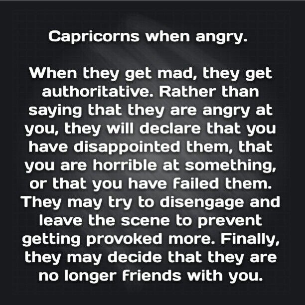 How Capricorns react when angry   Capricorn and aquarius