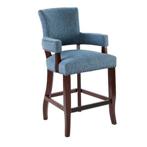 Astounding Jla Home Bracken 26 Counter Stool With Arms Kitchen Lamtechconsult Wood Chair Design Ideas Lamtechconsultcom