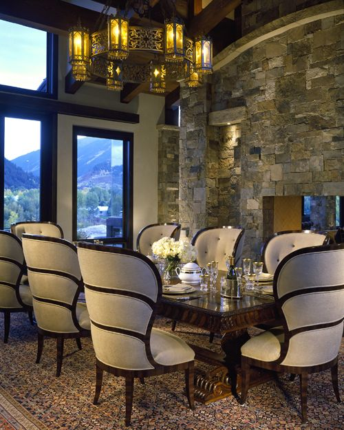 35 Luxury Dining Room Design Ideas: Luxury Bavarian-Style Retreat At The Base Of Red Mountain