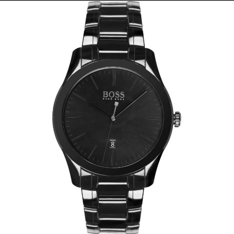 Hugo Boss 1513223 - In Stock! - This men's Hugo Boss watch is fitted with a  quartz movement. It is fastened with a black ceramic bracelet and has a  black ...