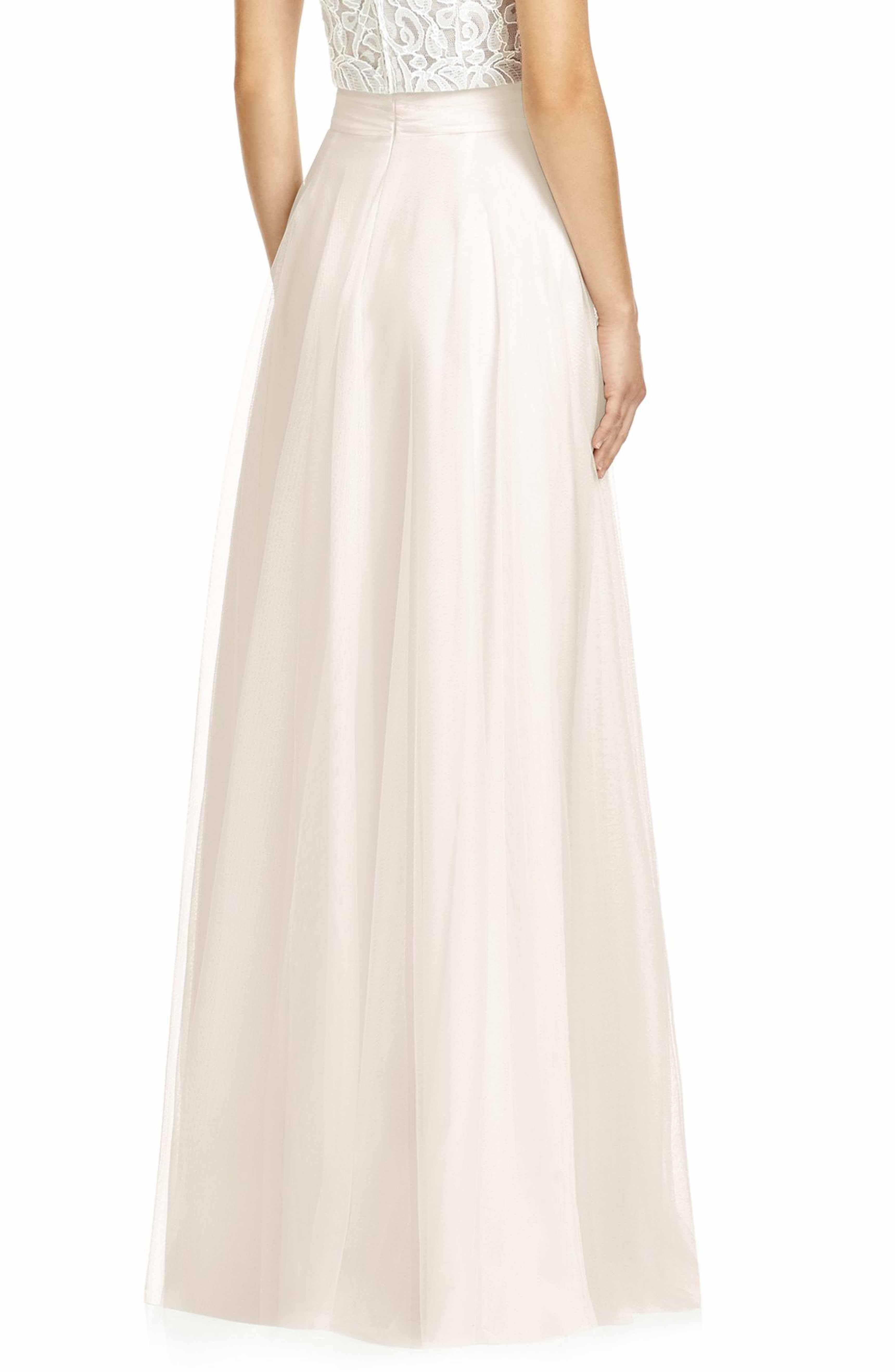 Tulle skirt wedding dress  Full Length Tulle Skirt  Tulle skirts Wedding dress and Weddings