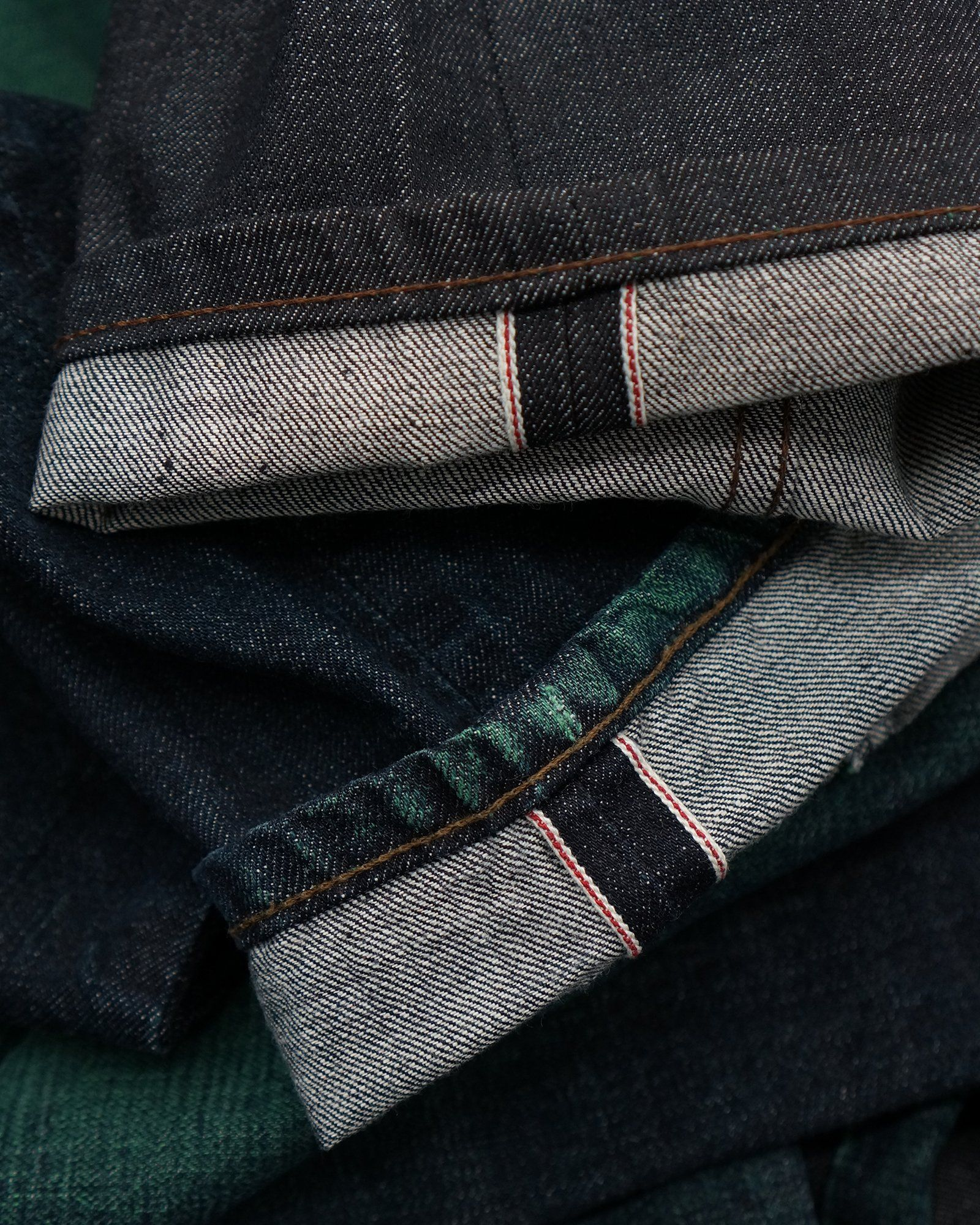 e5357fc7 Naked & Famous Denim's Green Core Selvedge is a 12.5 Japanese Selvedge Denim  designed to fade to green! Traditional rope dyed denim fades from indigo to  ...