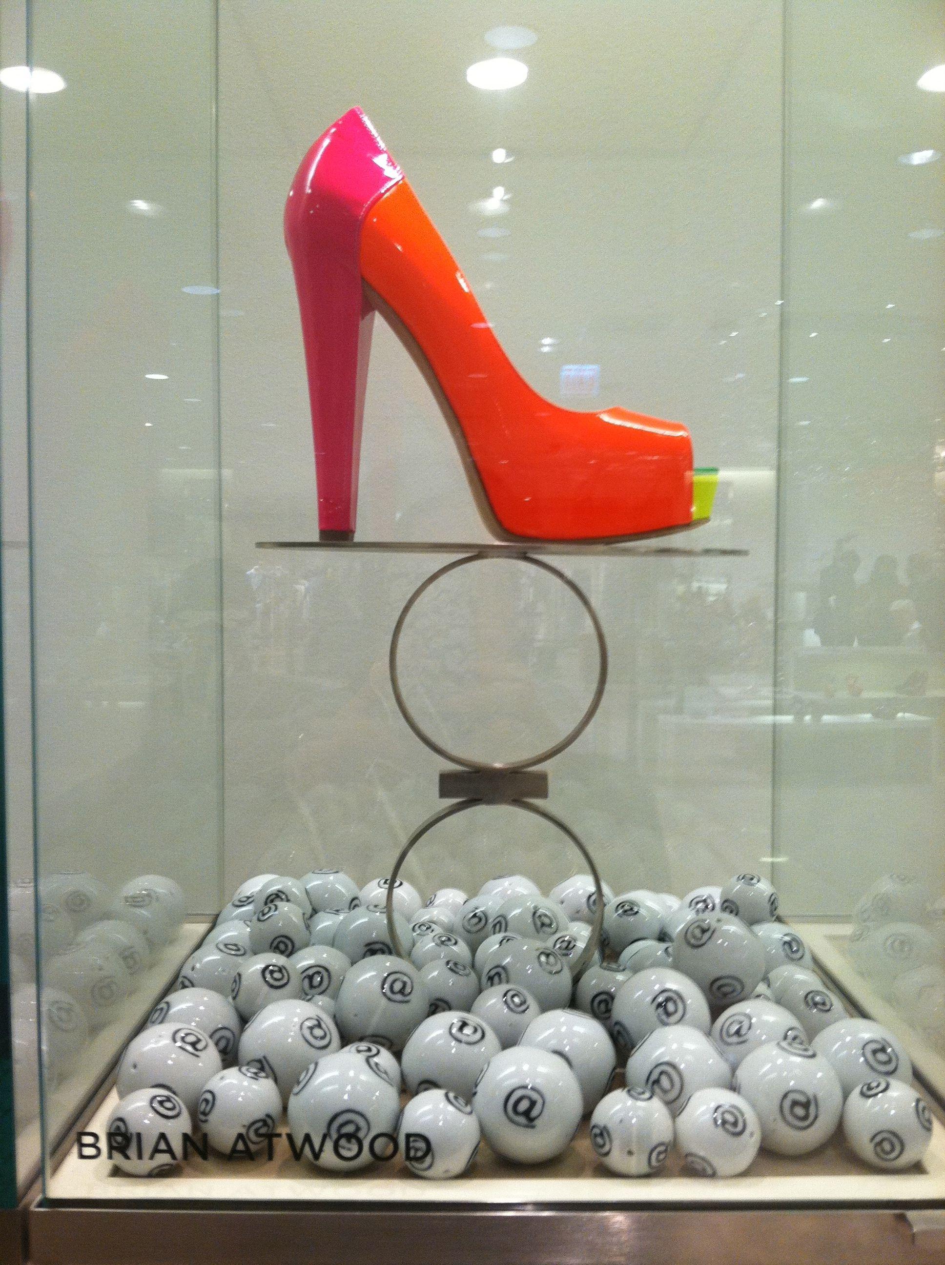 #brianatwood NEON shoes! @Saks Fifth Avenue #Imaluxurylady