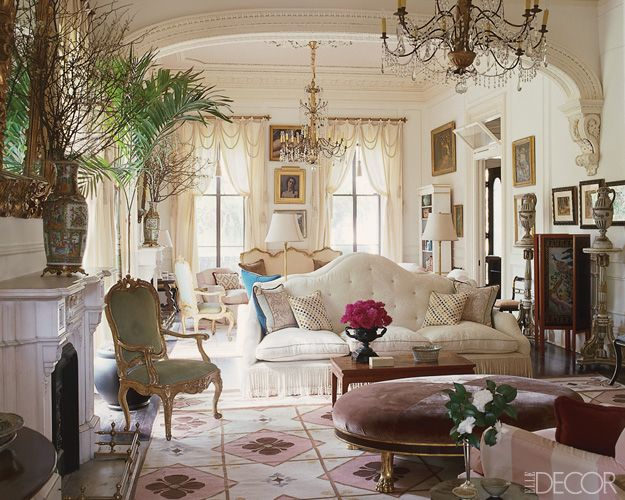 Designer Richard Keith Langham In New Orleans Elle Decor Via Ashleypugh2