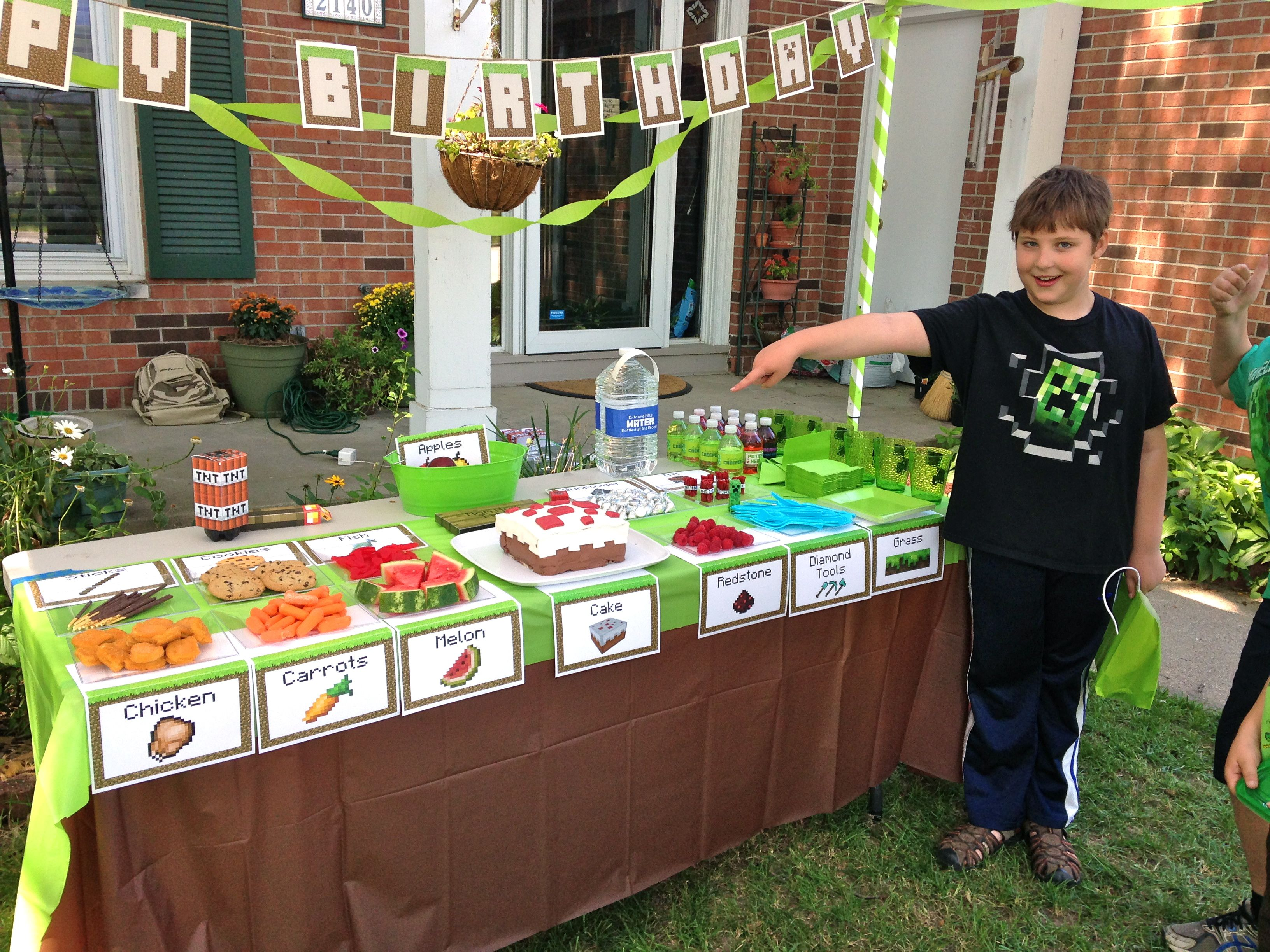 Mine craft birthday ideas - An Epic Minecraft Birthday Party With Games And Printables