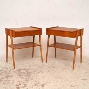 Pair Of Danish Teak Bedside Tables By Ab Carlstrom Vintage 1960 S A Beautifully Styled Pair Of T Teak Bedside Table Teak Side Table Bedroom Furniture For Sale