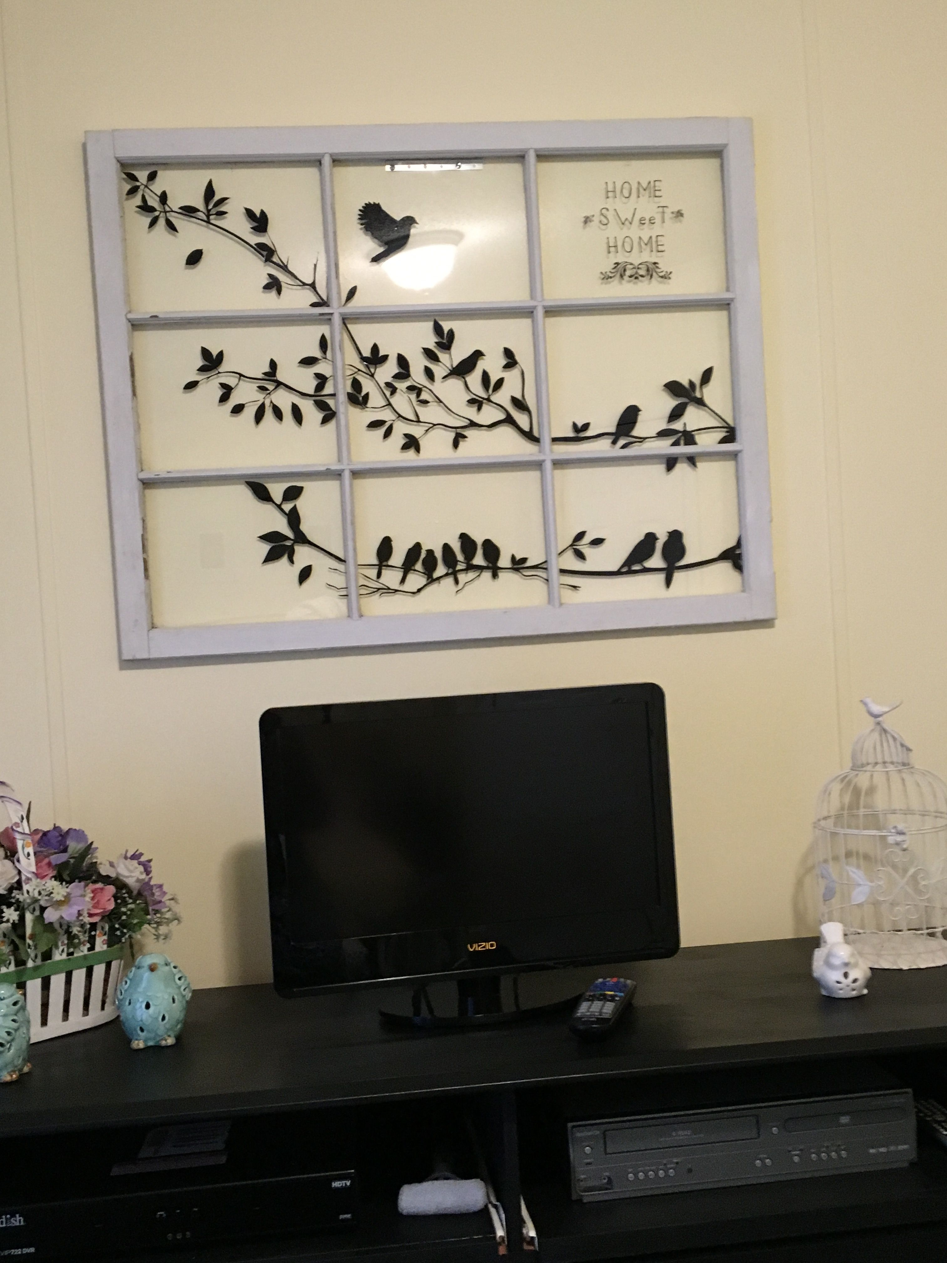 Black and white window frame project is done
