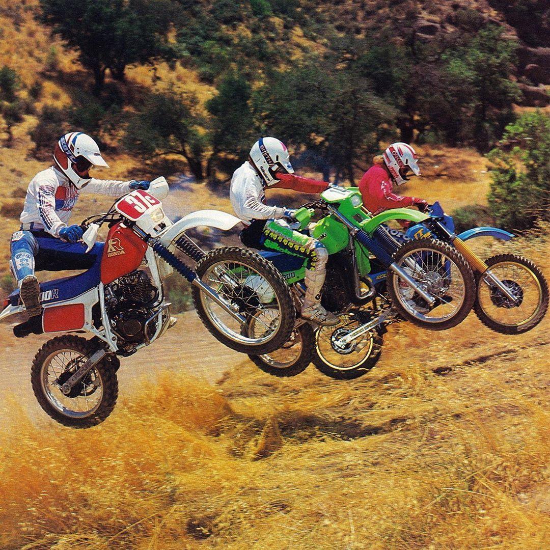 Dueling 200s For 1986 Honda S Xr200r Kawasaki S Kdx200 And