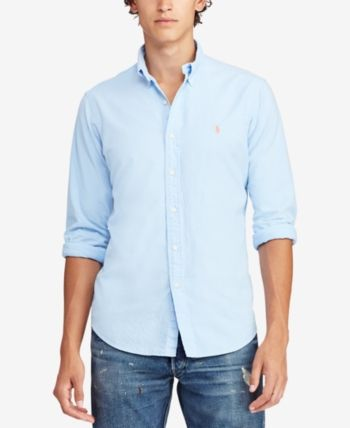 37b5bea4b Polo Ralph Lauren Men's Classic Fit Garment Dyed Oxford Shirt - Baby ...