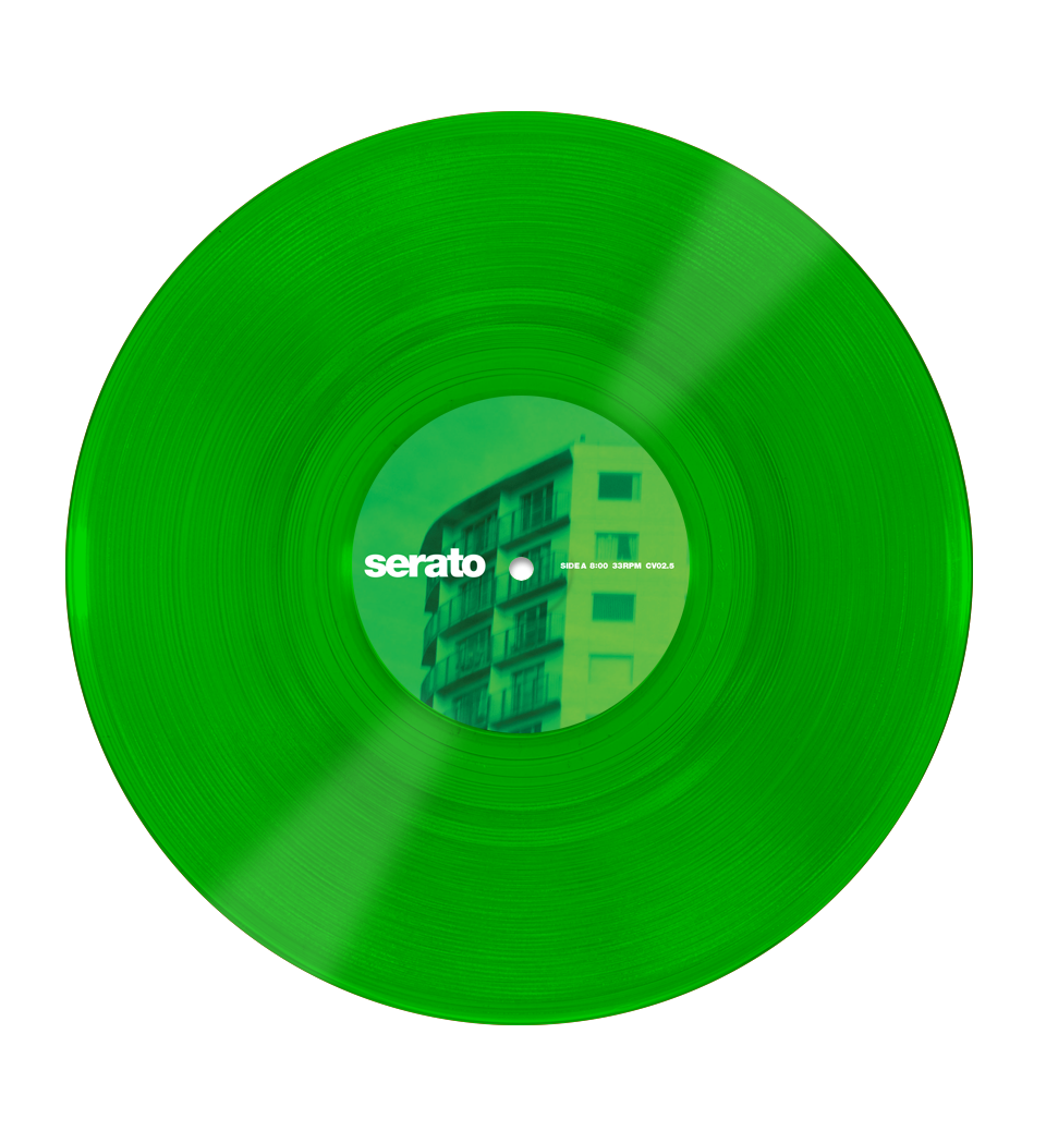 10 Serato Control Vinyl Green Glass Pair Serato Glass Vinyl Serato Com Green Glass Vinyl Glass