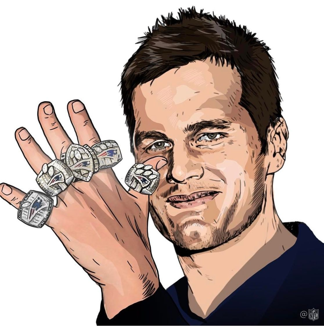 Hit Me With That 5 Rings Still More To Do Tom Brady New England Patriots New England Patriots Merchandise Patriots
