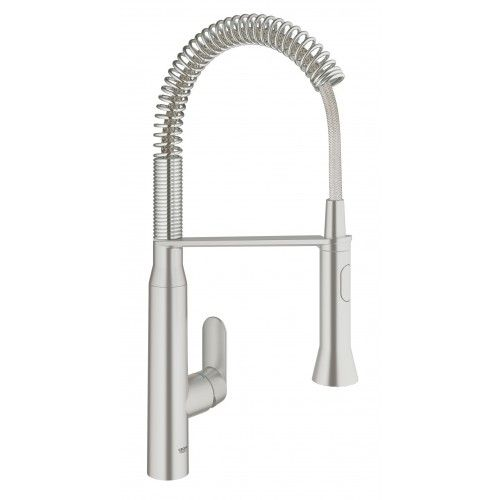 GROHE Stainless Steel Faucet #SKU:31380DC0. Single hole installation ...