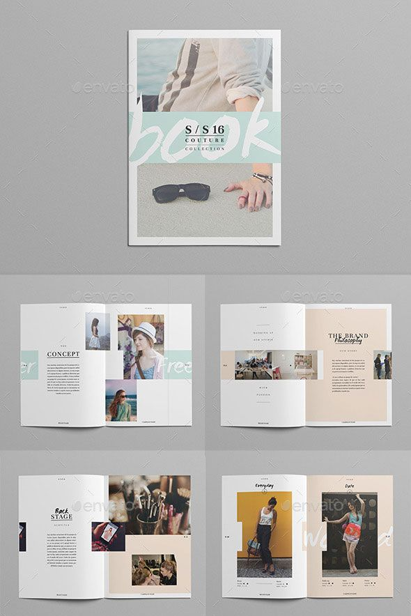 20 Gorgeous InDesign Lookbook Template Designs