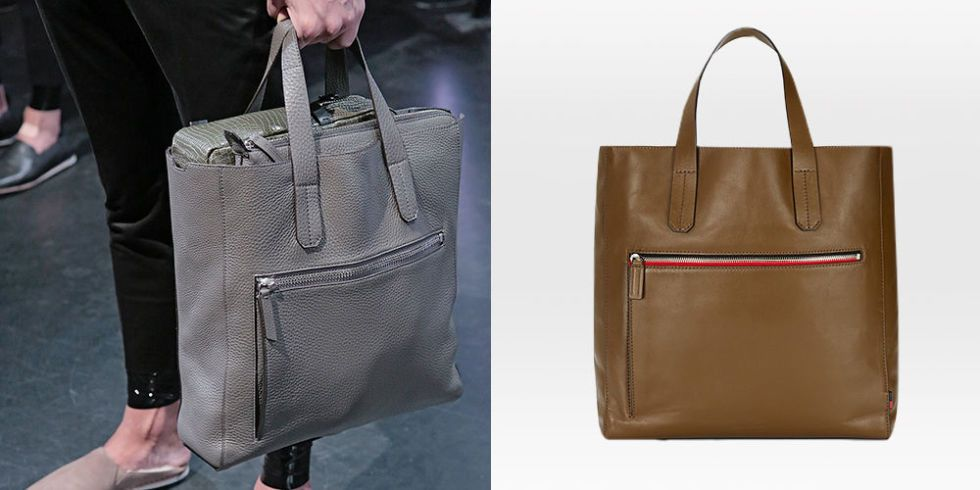 Gray Unlined Tote Bag From Uri Minkoff Presentation