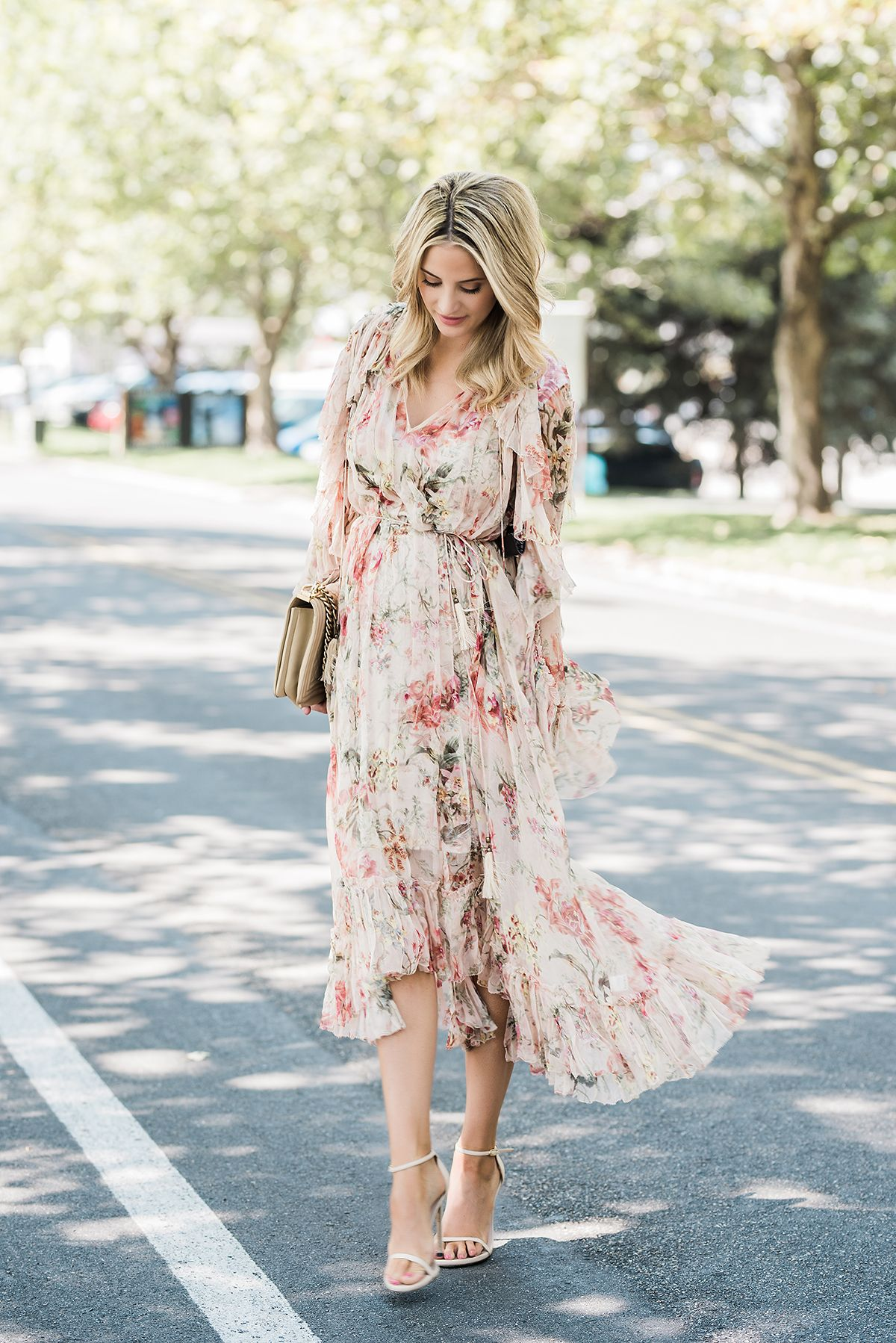 Floral Trendy Spring Dresses Spring Fashion Outfits Summer Wedding Outfits [ 1798 x 1200 Pixel ]