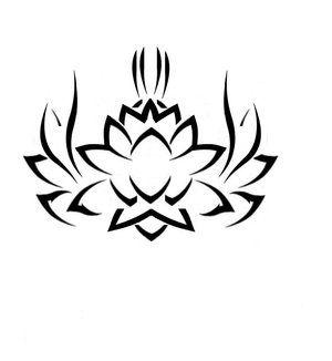 Tribal Style Lotus Tattoos Lotus Tattoo Tribal Lotus Tattoo