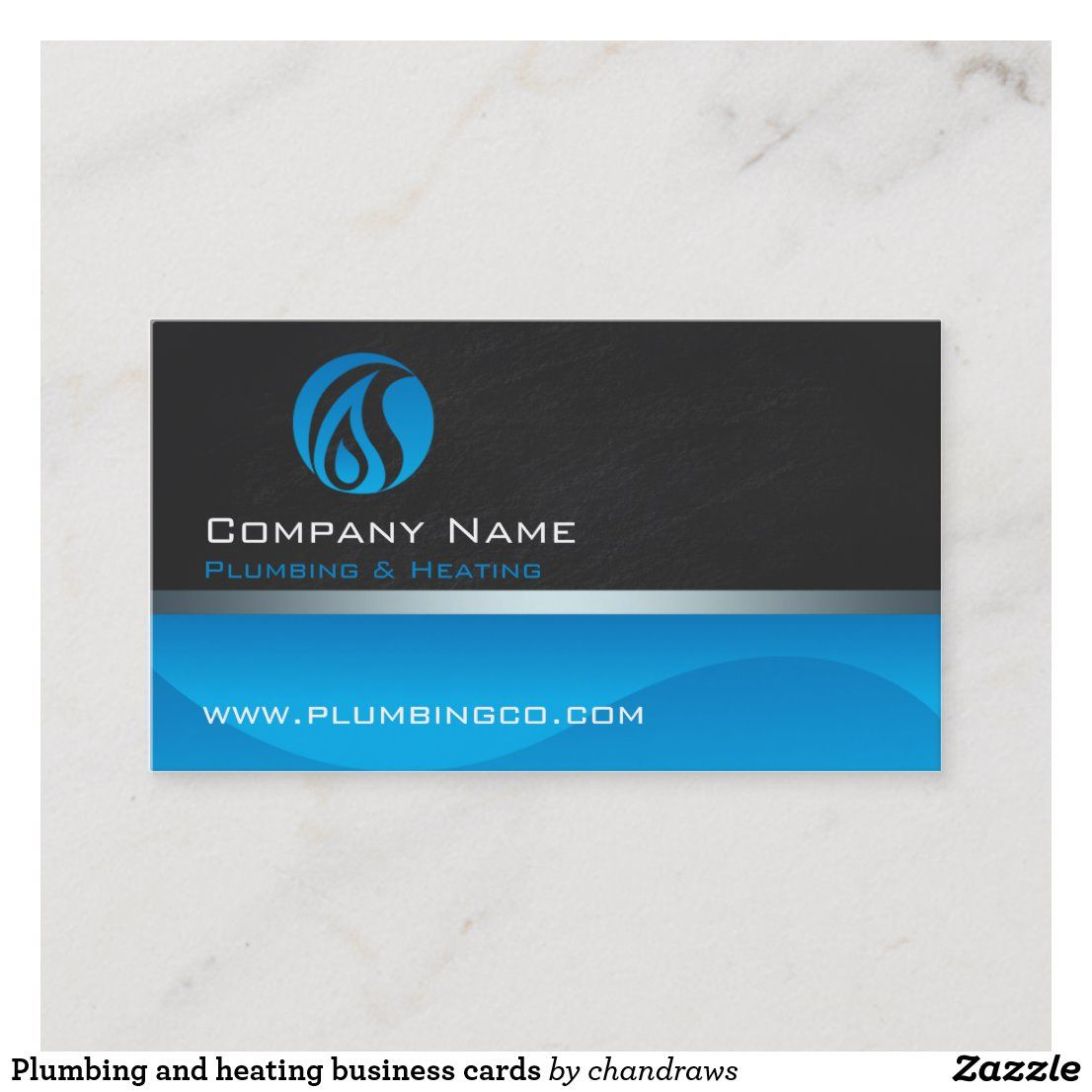 Plumbing And Heating Business Cards Zazzle Com In 2021 Business Cards Stylish Business Cards Plumbing