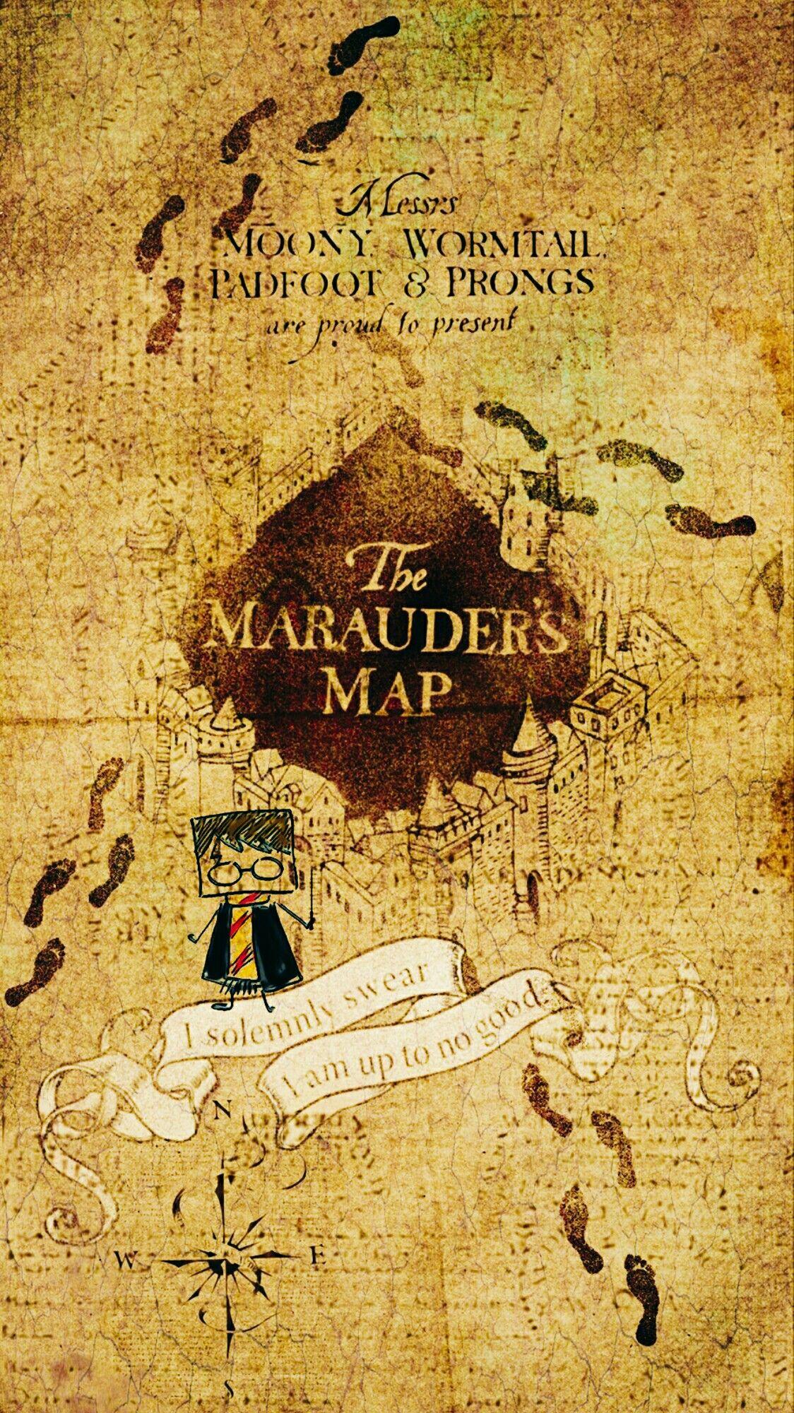 marauders map drawing | Tumblr |Marauders Map Drawing