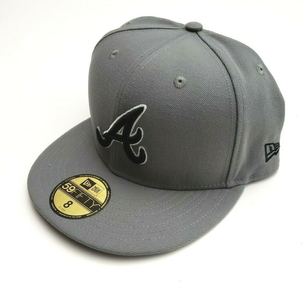 New Era Atlanta Braves 59fifty Storm Gray Fitted Hat Size 8
