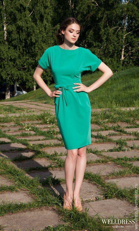 43f89b5ba88 Купить Летнее платье - футляр - зеленый