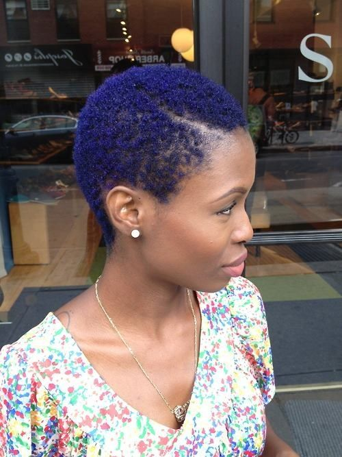 blue twa natural hair