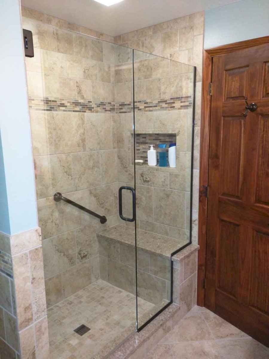 80 Awesome Farmhouse Tile Shower Decor Ideas (1