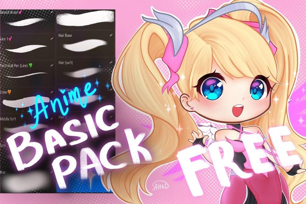 Free anime brushset procreate brushes free free brush
