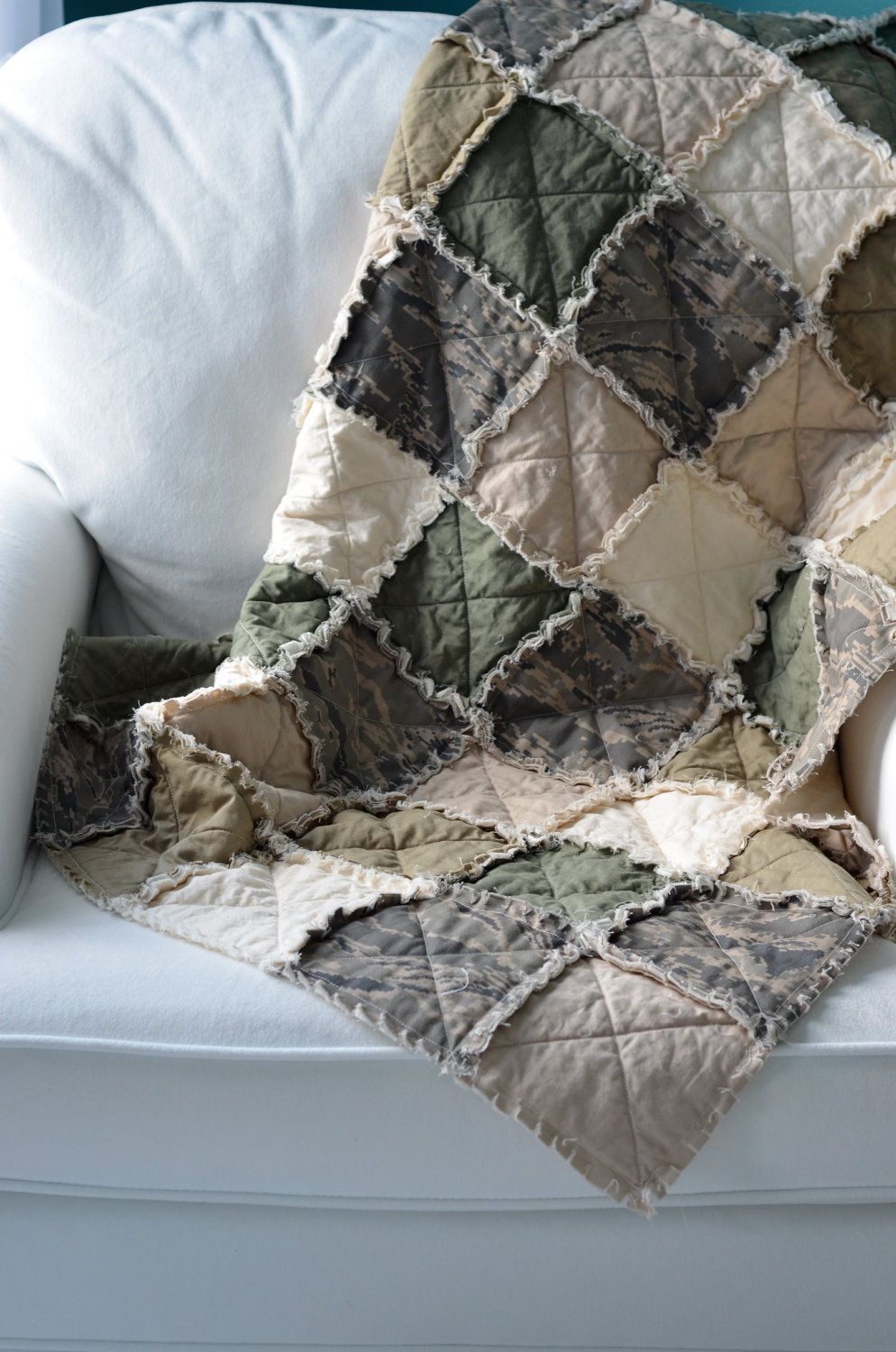 ABU, ACU Military Crib Rag Quilt - Can Be Customized, for baby or ... : customized quilts - Adamdwight.com