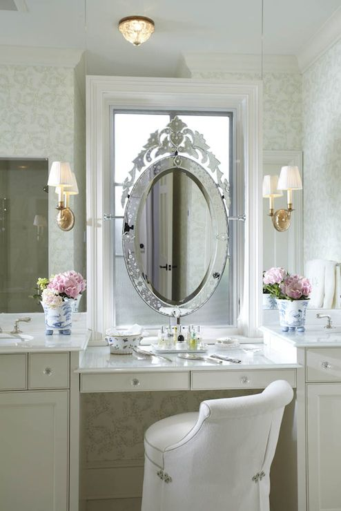 Mirror Design For Bathroom Stunning Venetian Mirror Over Windowcool Idea  Dressing Tables Decorating Design