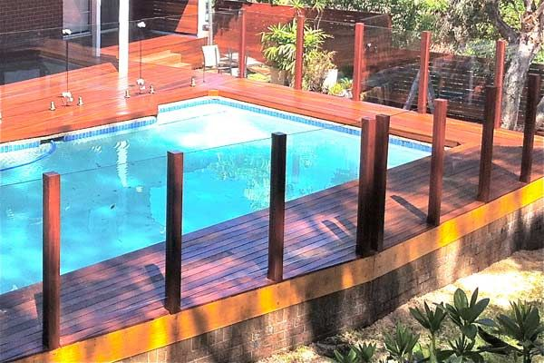Glass And Timber Balustrades Pool Fence Pool Landscaping Outdoor Entertaining Area