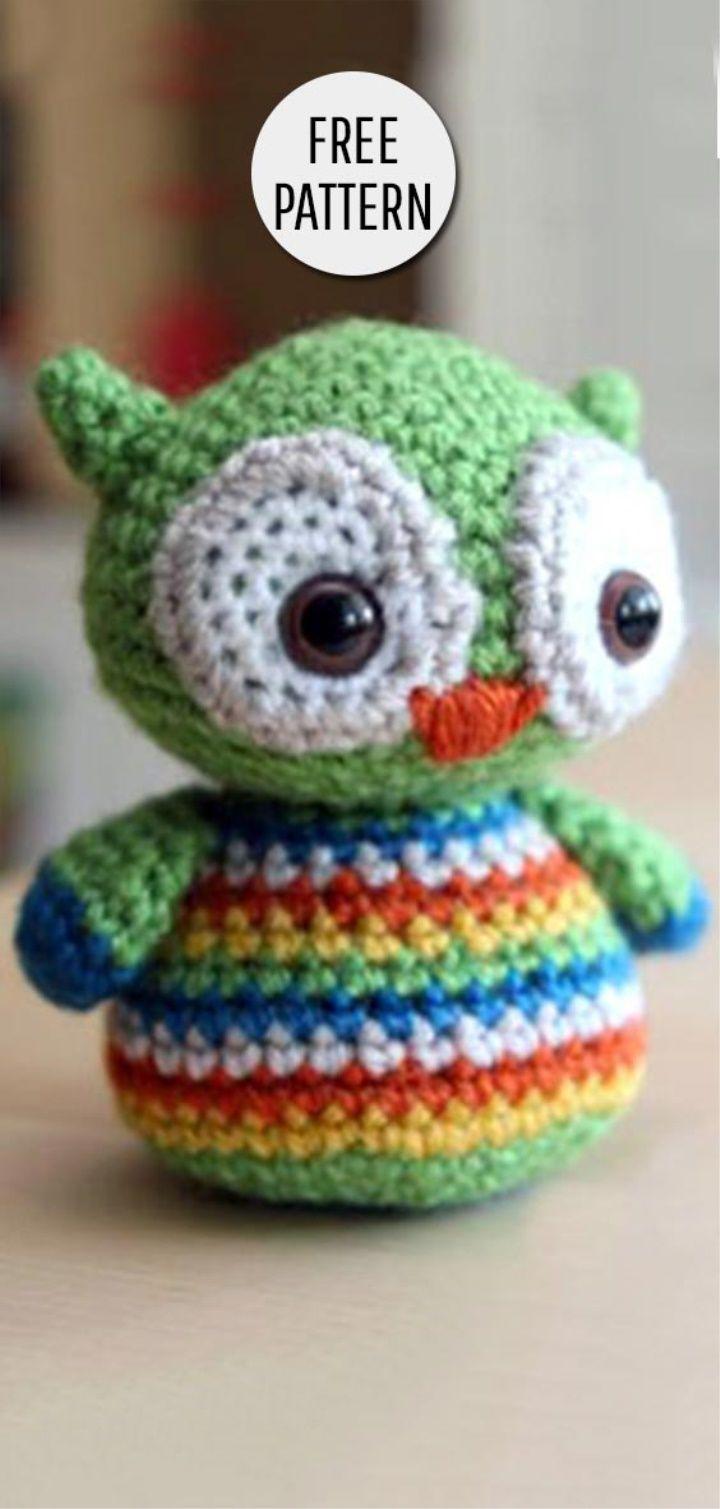 Amigurumi Baby Owl Free Pattern | Crochet | Pinterest | Animales ...