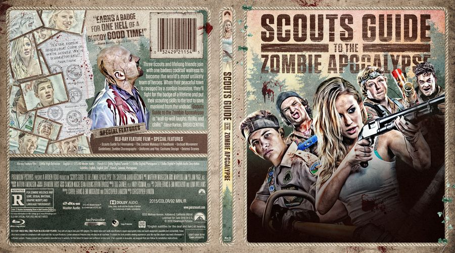 Scouts Guide To The Zombie Apocalypse Custom Blu-ray Cover