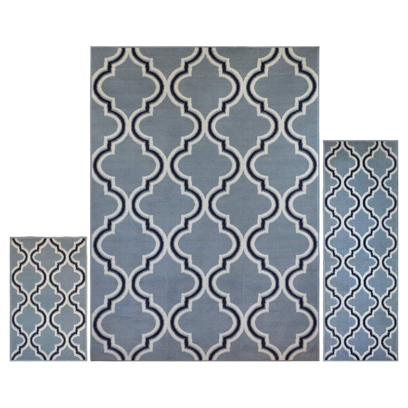 Home Dynamix Ariana 5534 Indoor Area Rug - Set of 3 Silver - 3S-5534-453