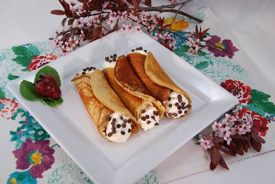 Paleo Rebel: Gluten & Grain-Free Cannoli Crepes using #WEDOBananaFlour! Perfect breakfast, lunch, dinner, and dessert!