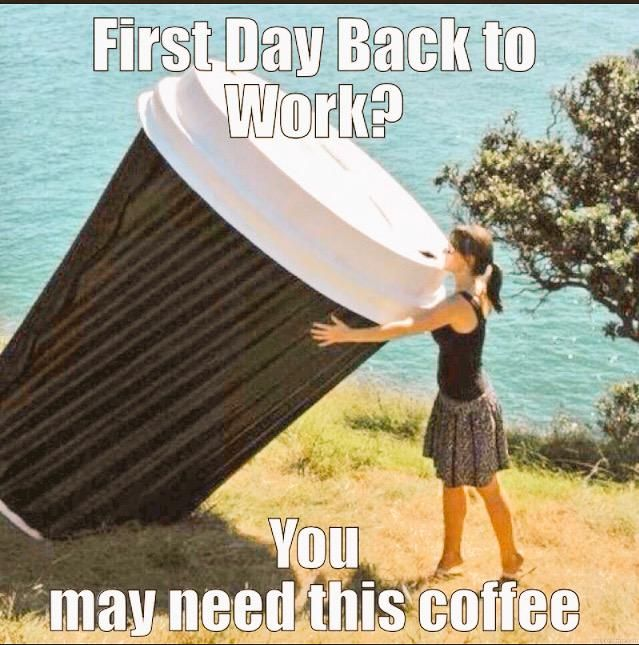 1c72addca9a52e2265960a7bf180da4b oh no, first day back to work tomorrow after two weeks off,First Day Back At Work Meme