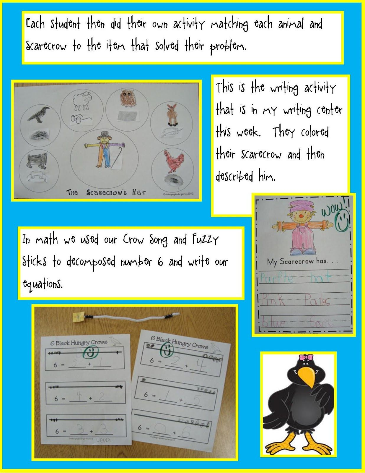 The Scarecrows Hat Reading And Math Freebies