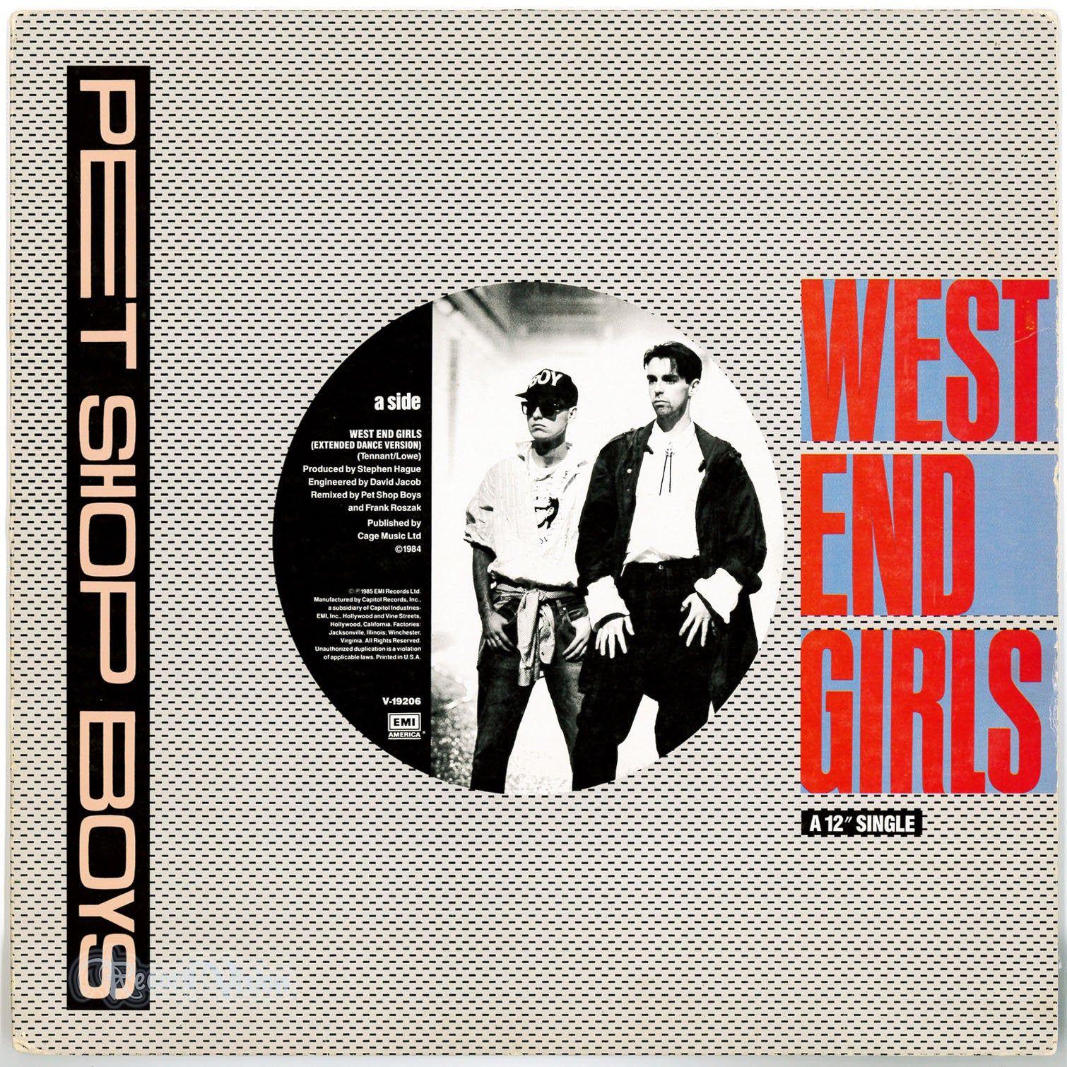 Pet Shop Boys West End Girls 1985 Vinyl 12 Single Remix