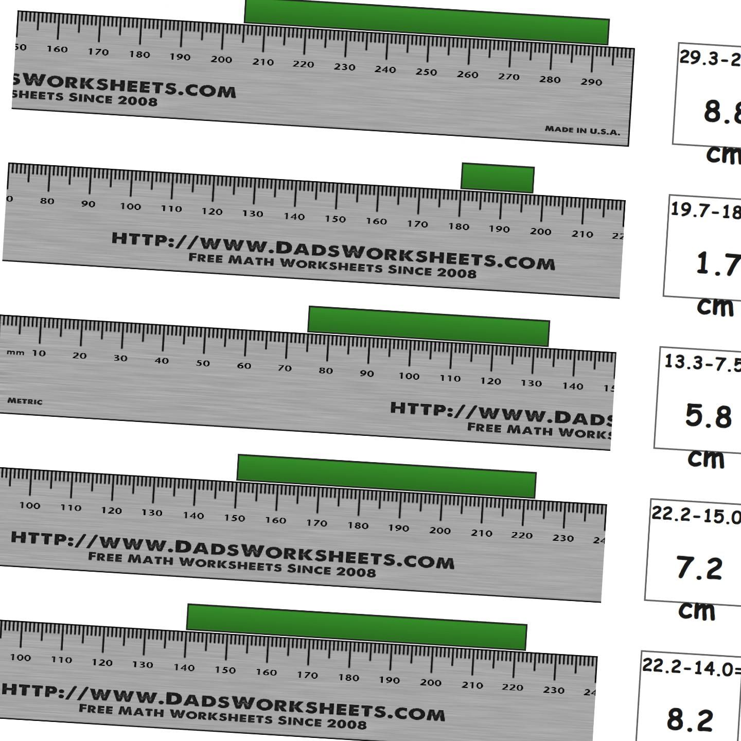 Worksheets For Measuring Length On A A Metric Ruler From