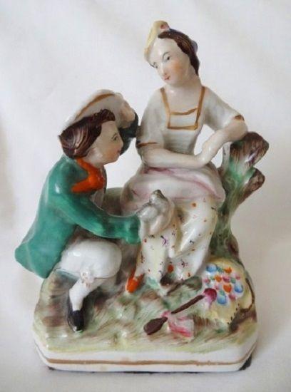 Antique Staffordshire Paul & Virginia Figurine