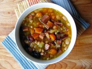 old fashioned navy bean ham soup