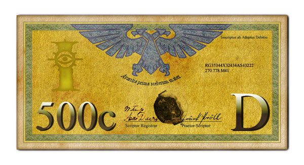 Imperial 500 Credit Bill by ikkaan