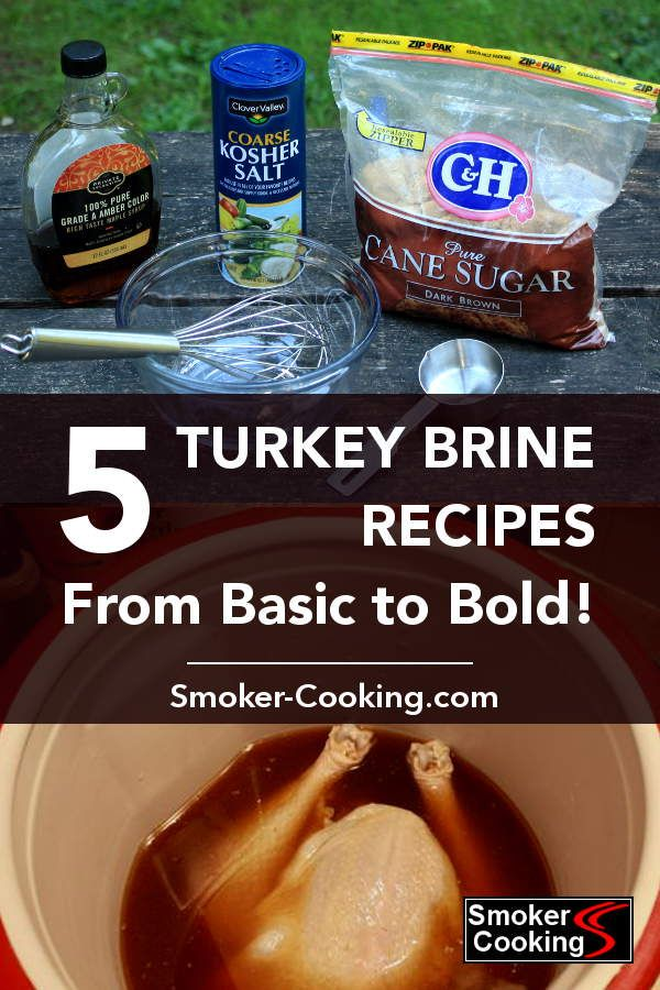 Smoked Turkey Brine Recipes For The Best Tasting Smoked Turkeys Ever!
