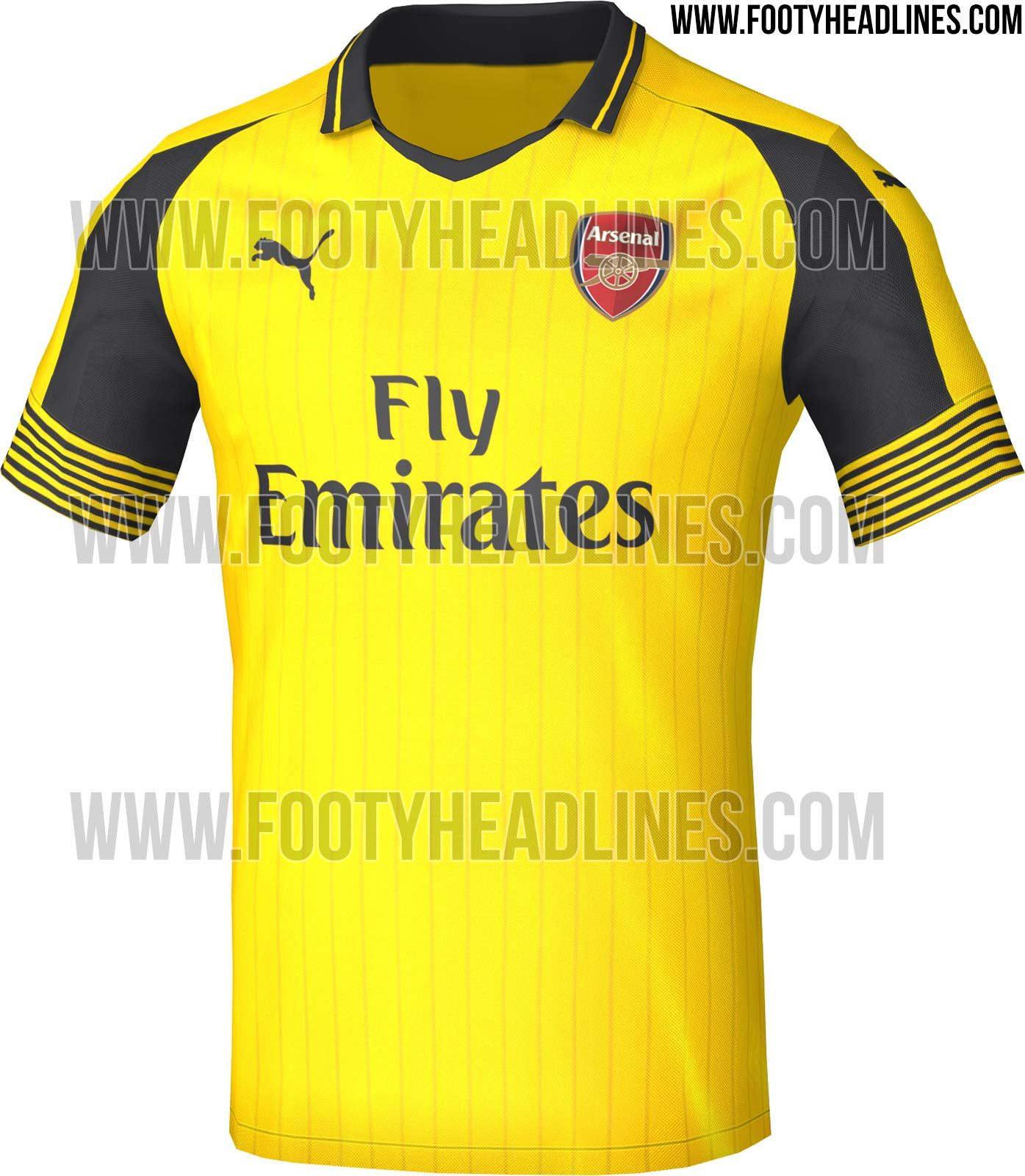 cefab715a Arsenal 16-17 Away Kit Leaked + Release Date Revealed