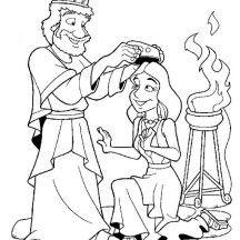 king ahasuerus queen coloring page