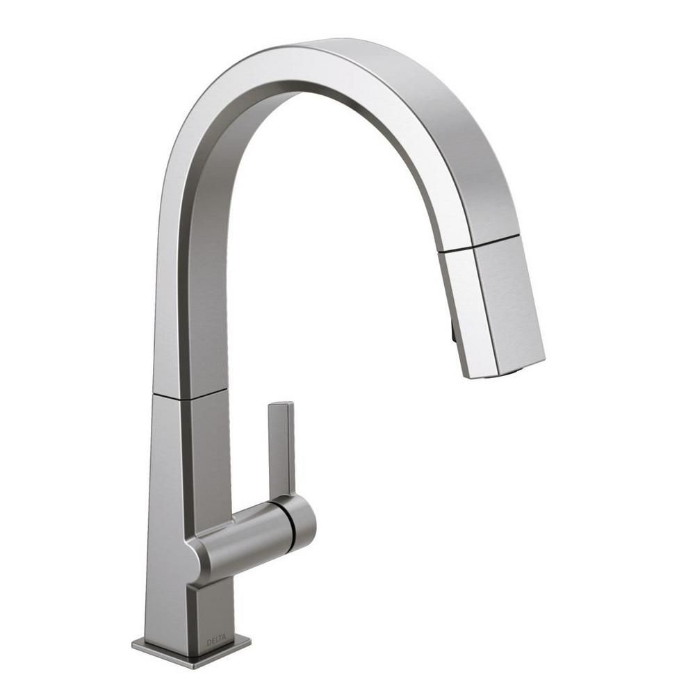 Delta Pivotal Single Handle Pull Down Sprayer Kitchen Faucet With