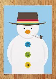 snowman card - Google Search