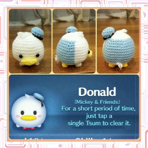 Handmade Tsum Tsum Amigurumi For Donald Daisy Duck And The