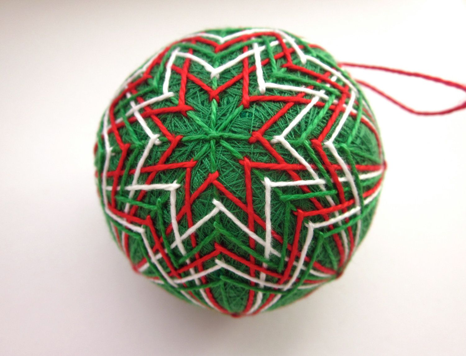 hand embroidered thread ball
