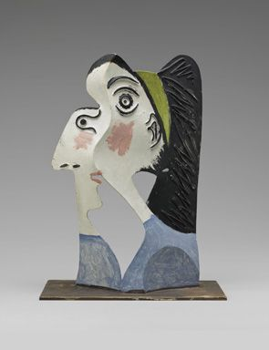 Pablo Picasso Head Of A Woman 1962 Painted Sheet Metal And Iron Wire 32 X 24 X 16 Cm Musee National Picasso Paris Dation Pablo Picasso 1979