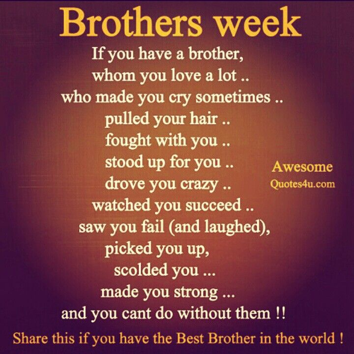 I love my Brothers! vc